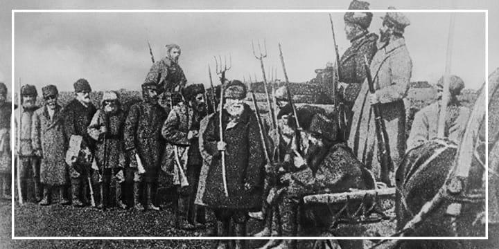 Крестьянский революционный отряд. Октябрьская революция. 1917 год