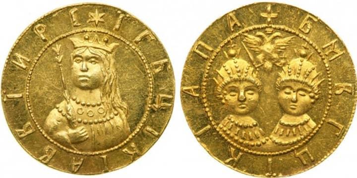 Золотые монеты Софьи Алексеевны