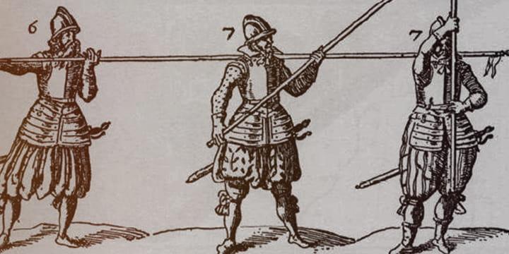 Пикинеры XVII в. в солдатских полках