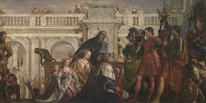 Семья царя Дария у ног Александра