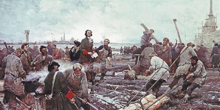 Петр I и рабочие