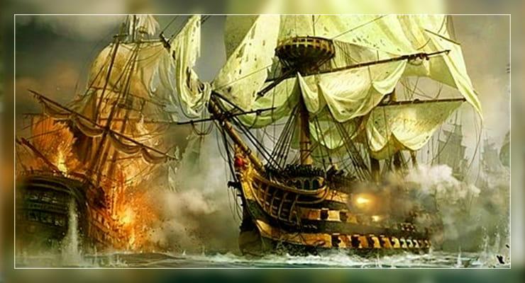 Корабли стреляют
