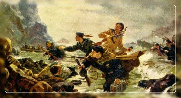 Десант на Курильских островах. (Андрей Плотнов, 1948)