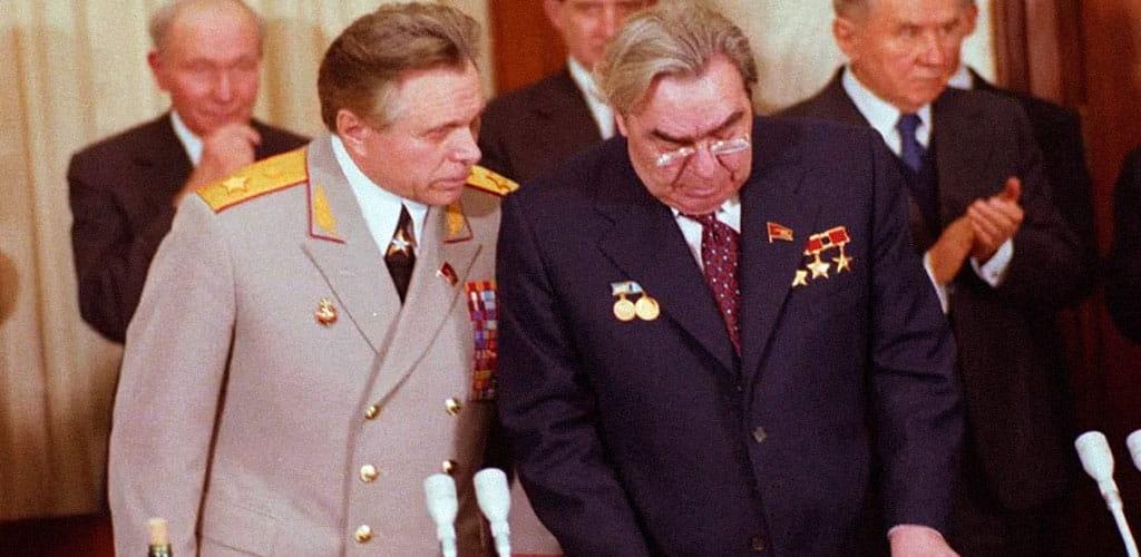 Николай Щелоков и Леонид Брежнев