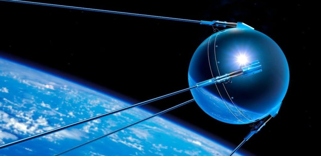 Фото Спутник-1 в космосе
