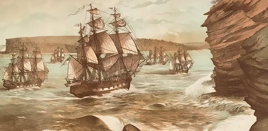 Первый флот в Сидней (Австралия)